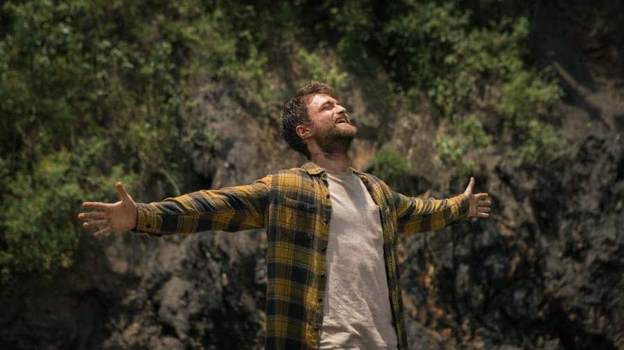 Jungle publicity still, Daniel Radcliffe as Yossi