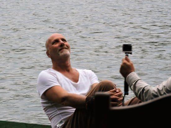 Yossi Ghinsberg at Lake Chalalan