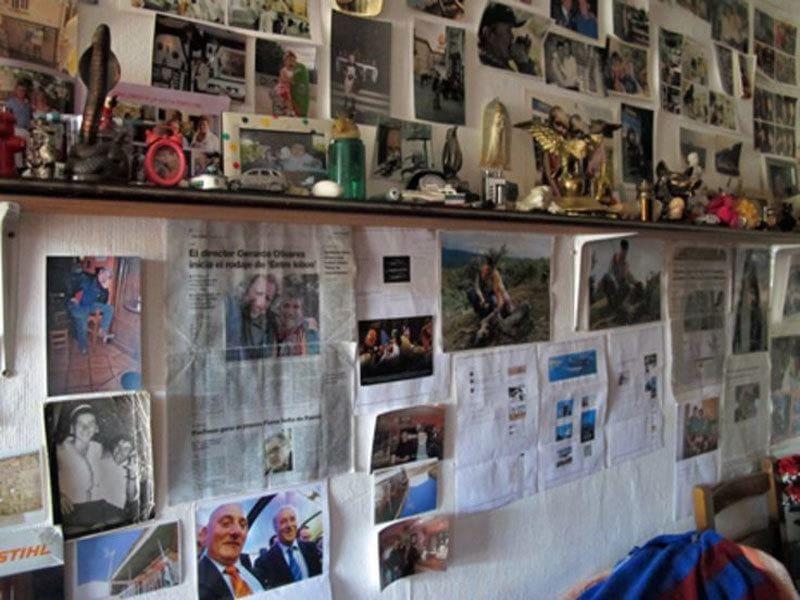 Memorabilia on the walls
