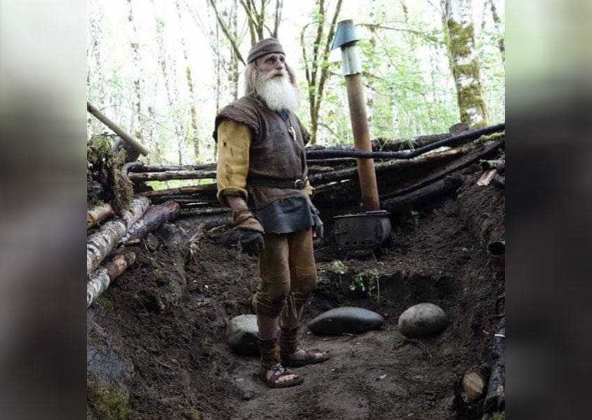 Mick Dodge is standing in his nature-based gym