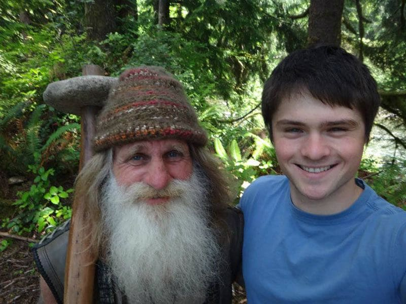 Mick Dodge is posing with someone he met