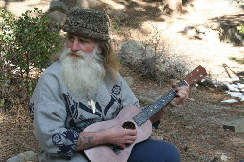 Mick Dodge is playing a smaller guitar