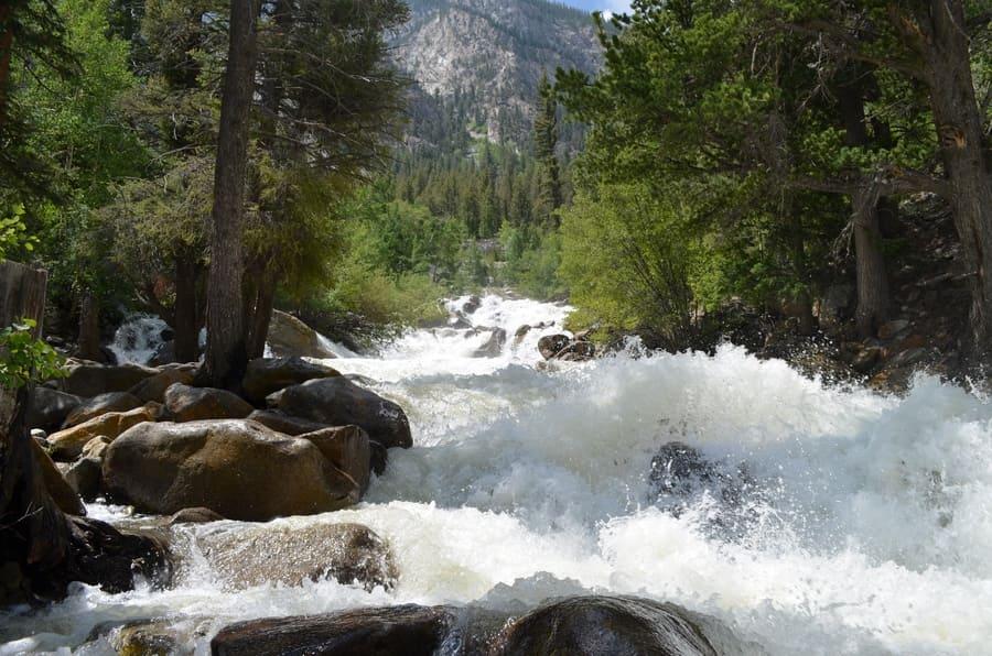Summer in Colorado: Looking Upstream at Cascade Falls on Chalk Creek