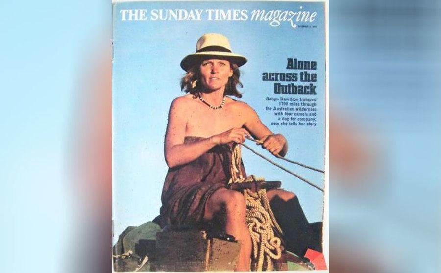 Robyn Davidson on the cover of The Sunday Times Magazine