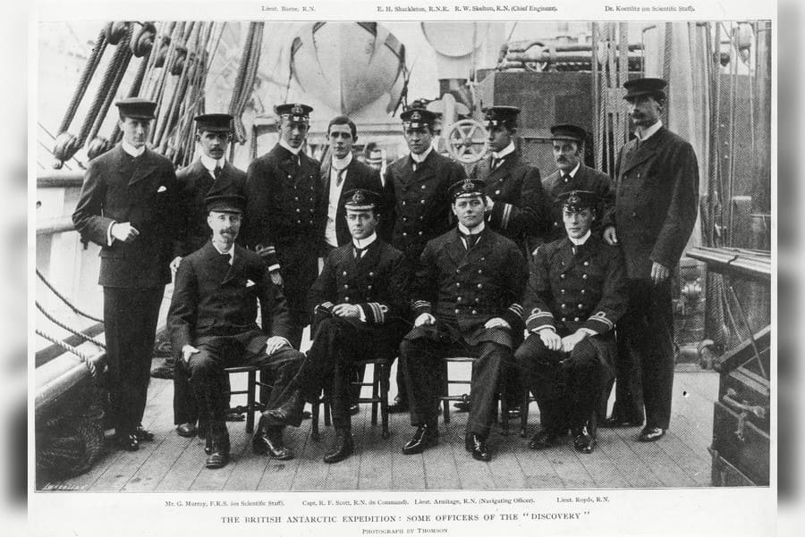 Officers of the British Antarctic Expedition On Board the Discovery