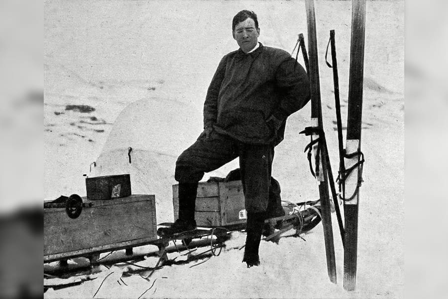 Sir Ernest Shackleton Dressed in Kit Suited to Antarctic Conditions Before His Trans-antarctic Expedition in 1914.