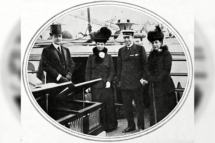 Sir Ernest Shackleton (second From Right) with Queen Alexandra