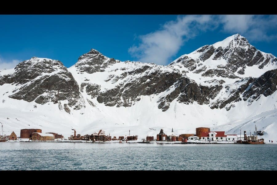 Abandoned Grytviken's whaling station