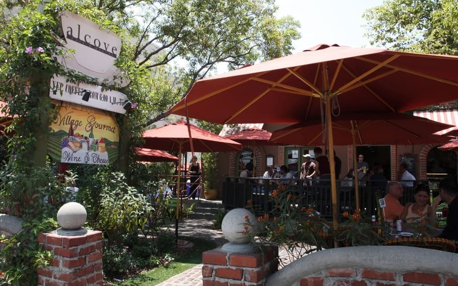 The Alcove restaurant, where Lily Allen had lunch