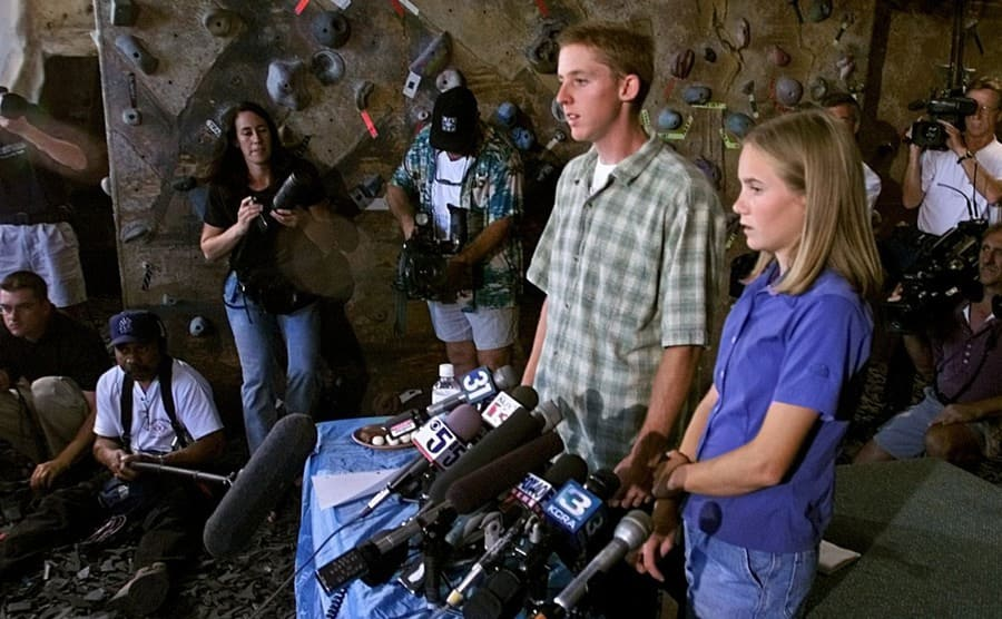 Tommy as Beth being interviewed after being rescued