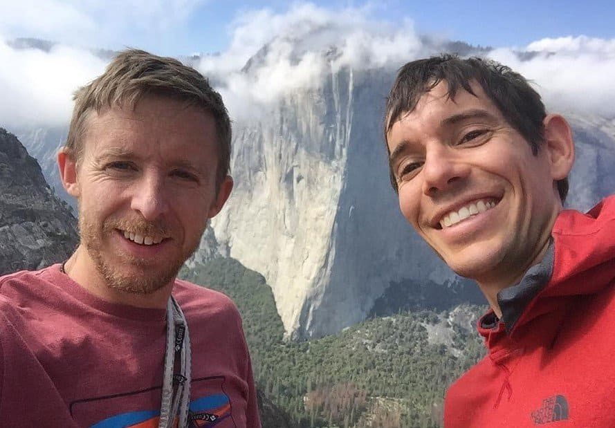Tommy Caldwell and Alex Honnold, with El Capitan in Yosemite in the background.