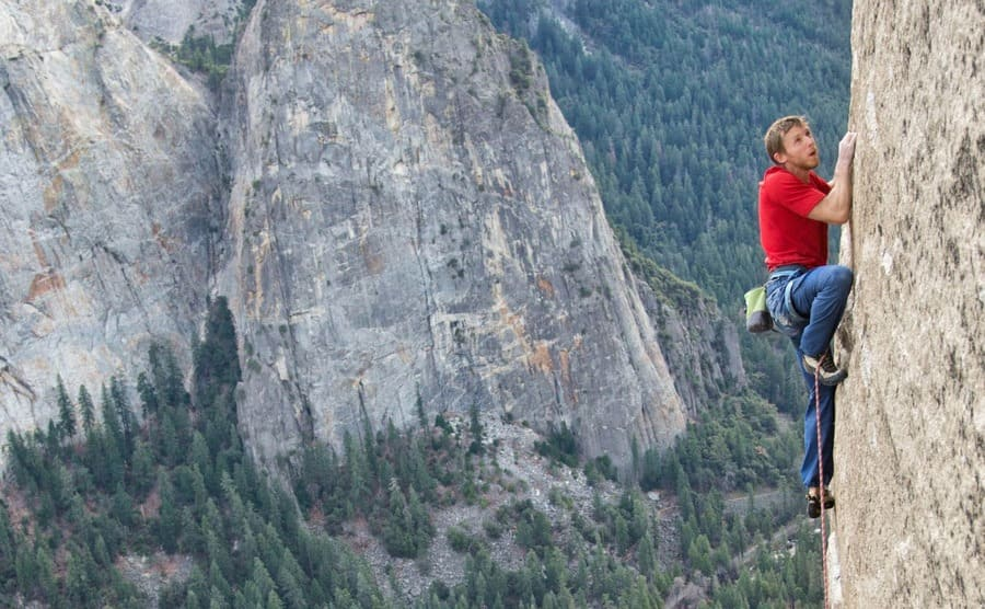 Tommy Caldwell climbing