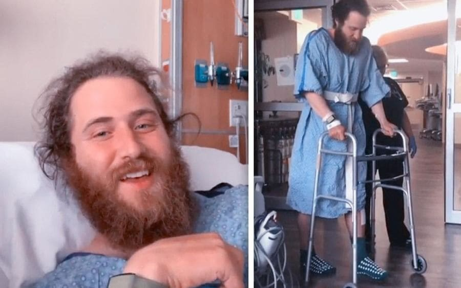 Mike Posner at the Hospital