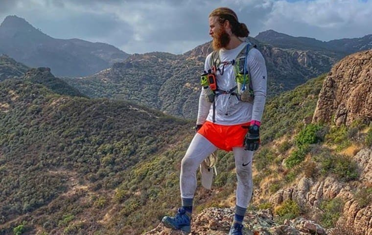 Mike Posner during his cross country walk