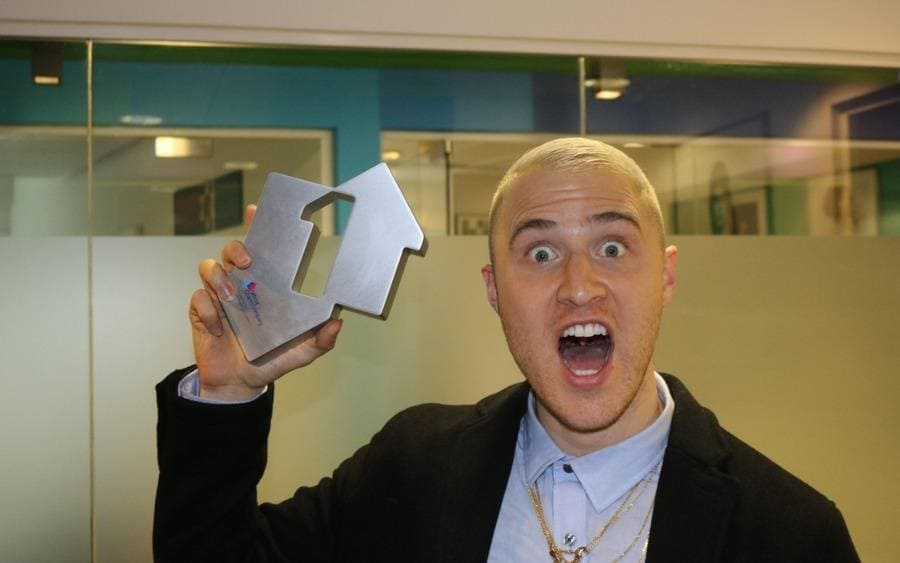 Mike Posner's is presented with the Official Number 1 Single Award