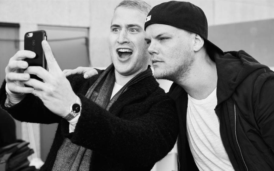 Mike Posner and Avicii at iHeartRadio – Universal Studios in Los Angeles, CA, on February 3, 2016.