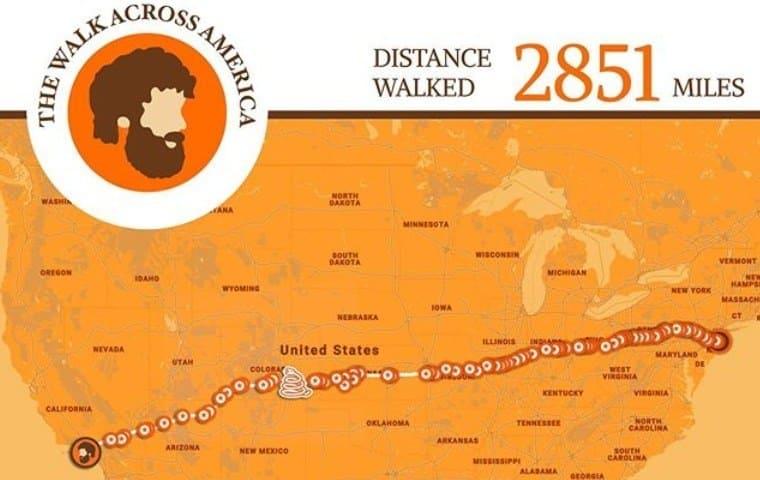 The Walk Across America. Day 187
