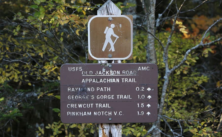 A sign leading to the Appalachian Trail
