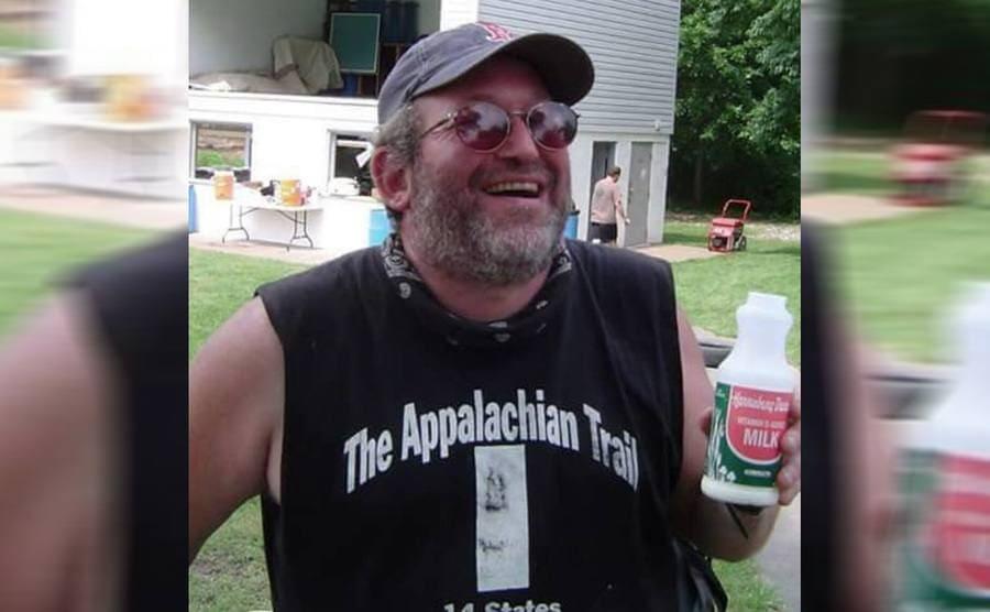 Baltimore Jack drinking milk