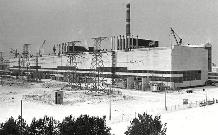 The Chernobyl Nuclear Power Plant before the disaster