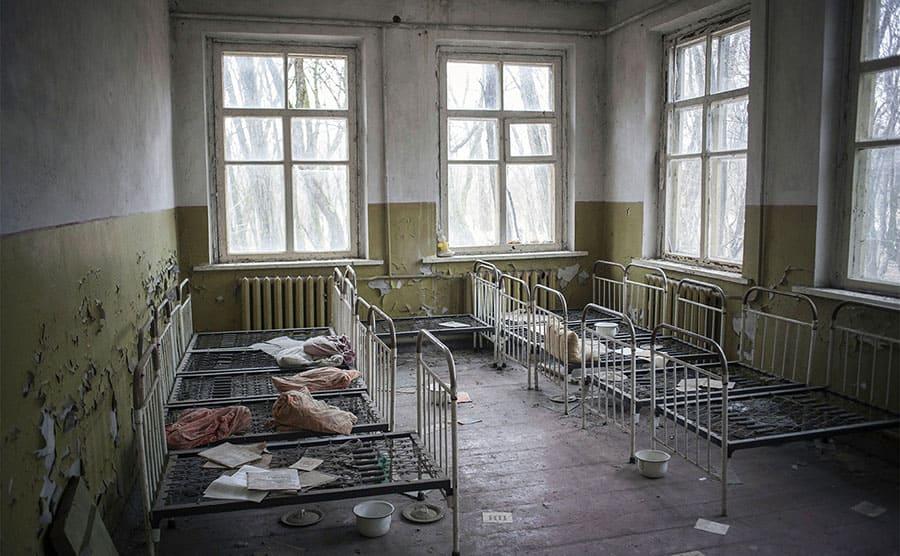 An abandoned kindergarten