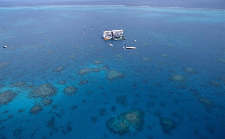 The floating hotel in the middle of the ocean