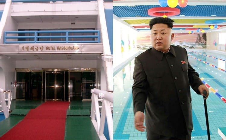 Kim Jong Un / The entrance of the Hotel Haegumgang