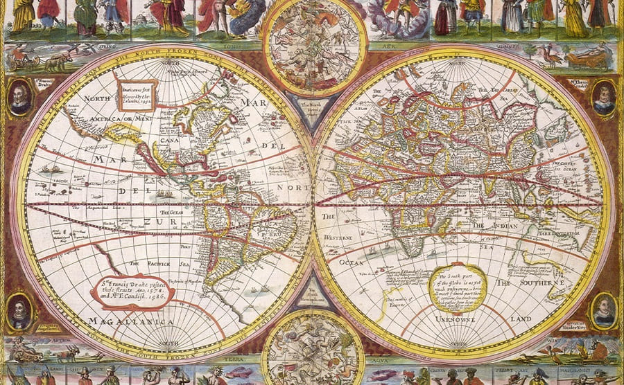 An old map from the 1670s