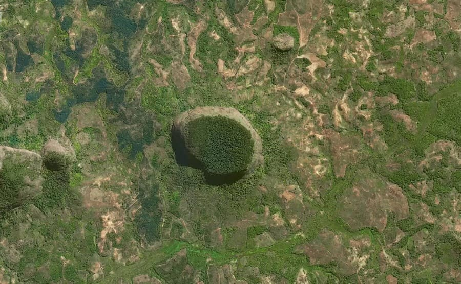 A view of Mount Lico from space