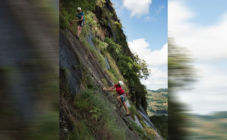 Julian Lines and Mike Robertson climbing Mount Lico