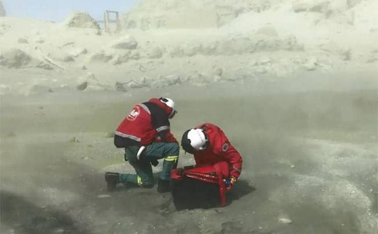 Two first responders pictured on the Island