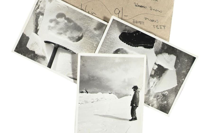 First photos claiming to show Yeti footprint to be auctioned