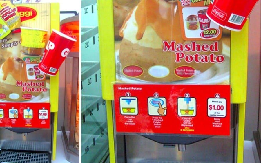 mashed potato vending machine