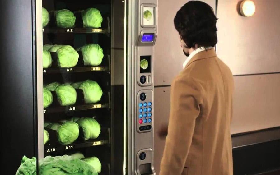 Lettuce machine in japan
