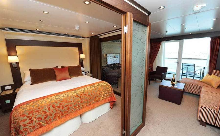 A nice room on a cruise ship