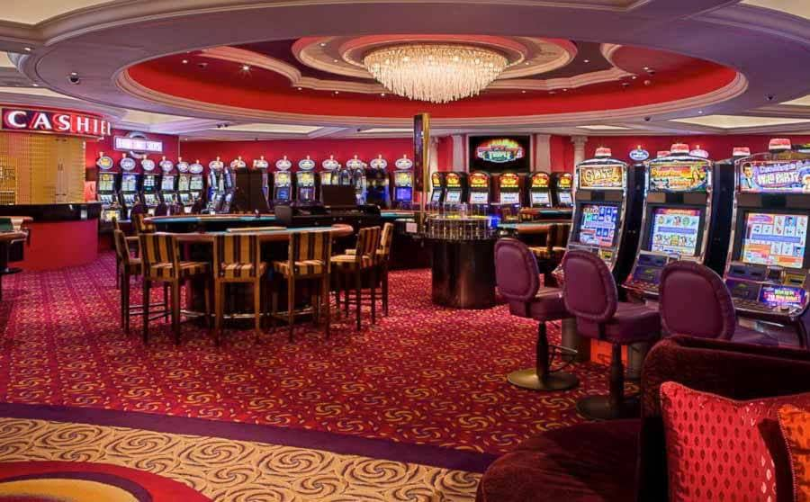 The casino inside of the Crystal Serenity cruise ship