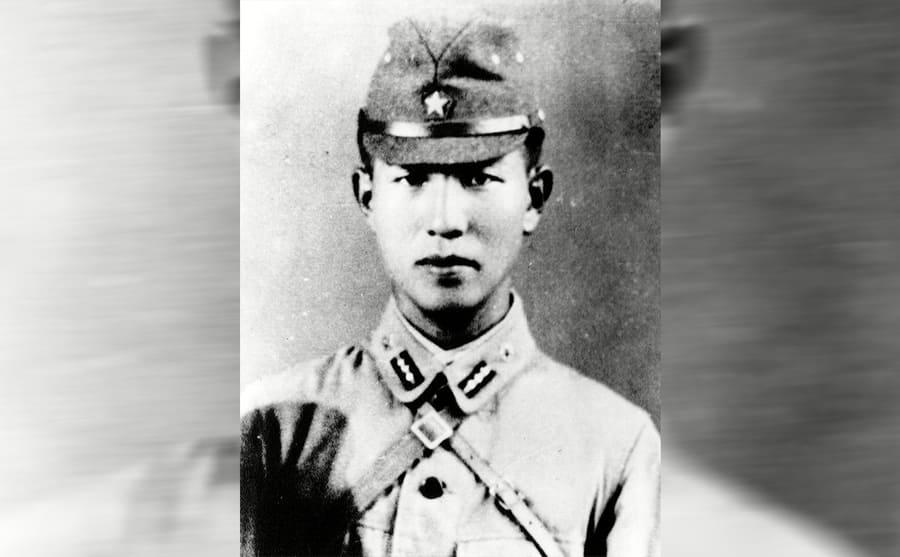 Lt Hiroo Onoda in uniform circa 1940s
