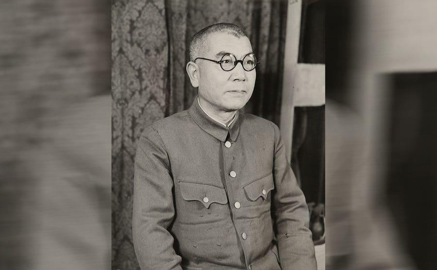 General Muto posing in his uniform