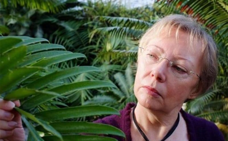 Juliane at an older age in the jungle