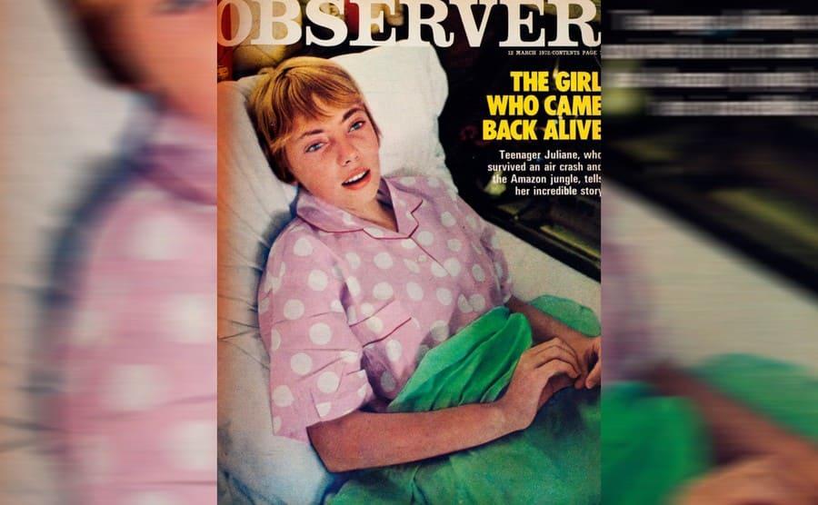 Juliane on the cover of Observer magazine