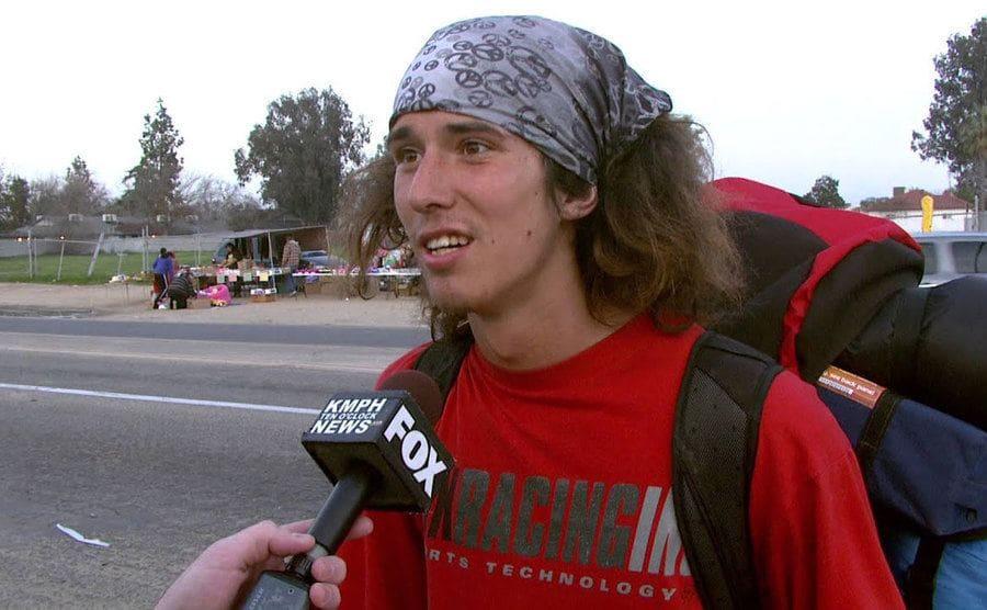 Kai being interviewed on Fox news