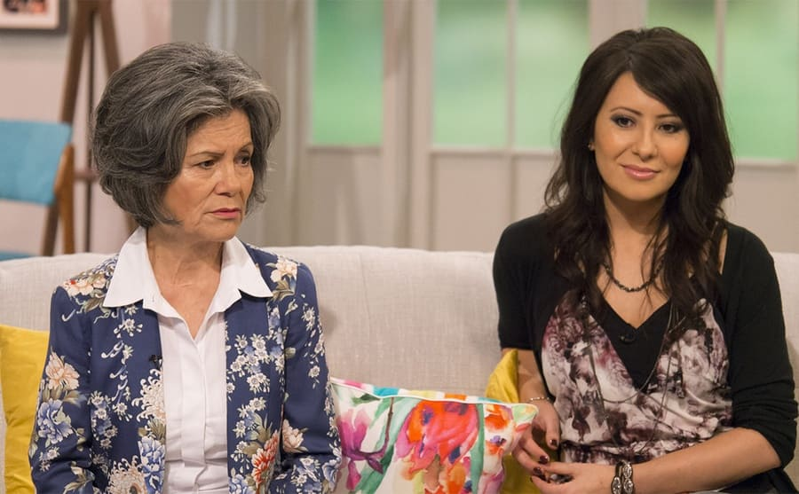 Marina and her daughter on a talk show