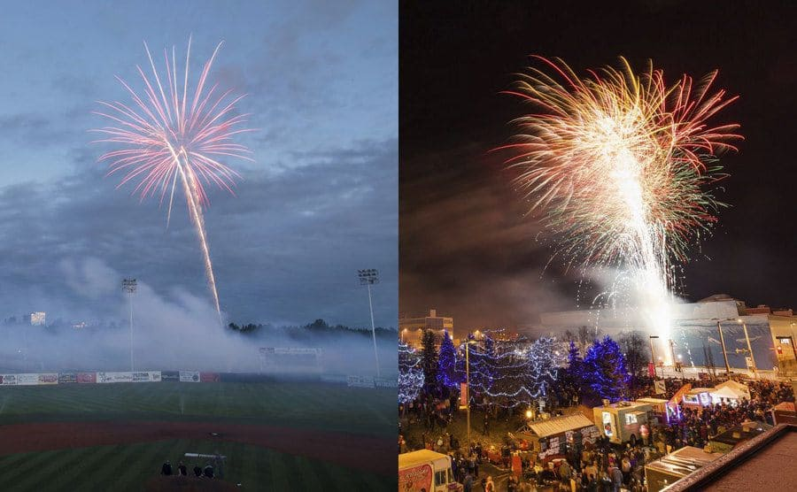 Fireworks on the 4th of July don't look as bright in the daylight of Alaska