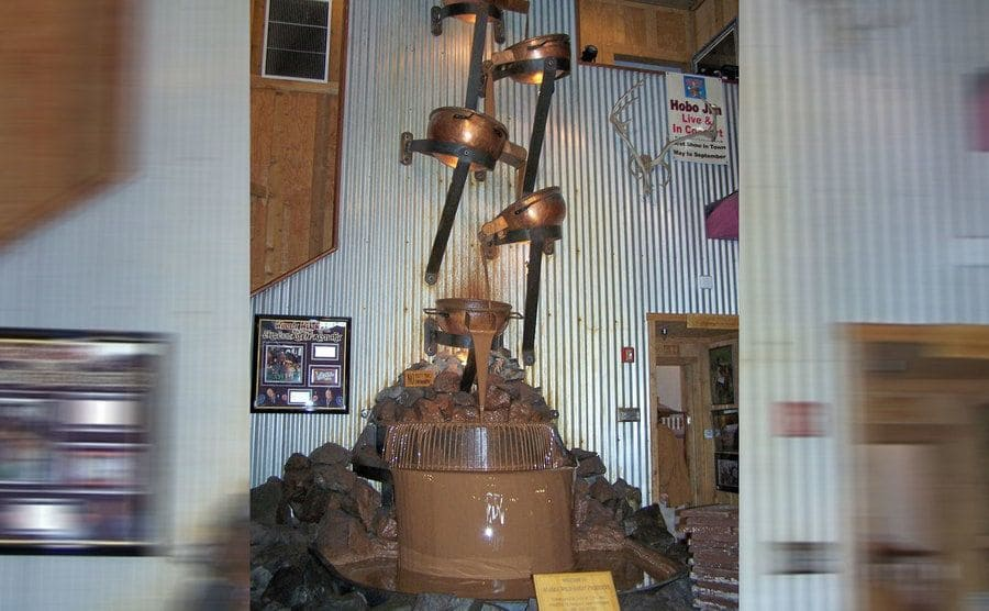 The world's largest chocolate waterfall.