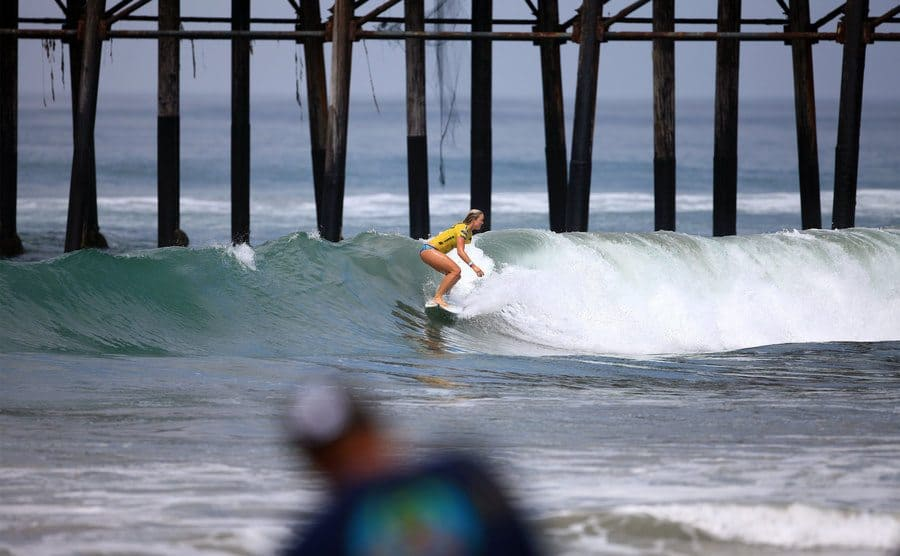 Surfer Bethany Hamilton competed in the 2013 Supergirl Surfing Contest on August 11, 2013