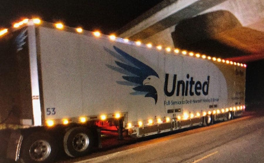 The semi-truck that Forward and Cruz stole.