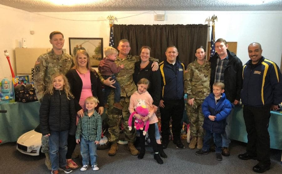 The three military families who were being relocated as part of their active duty service.