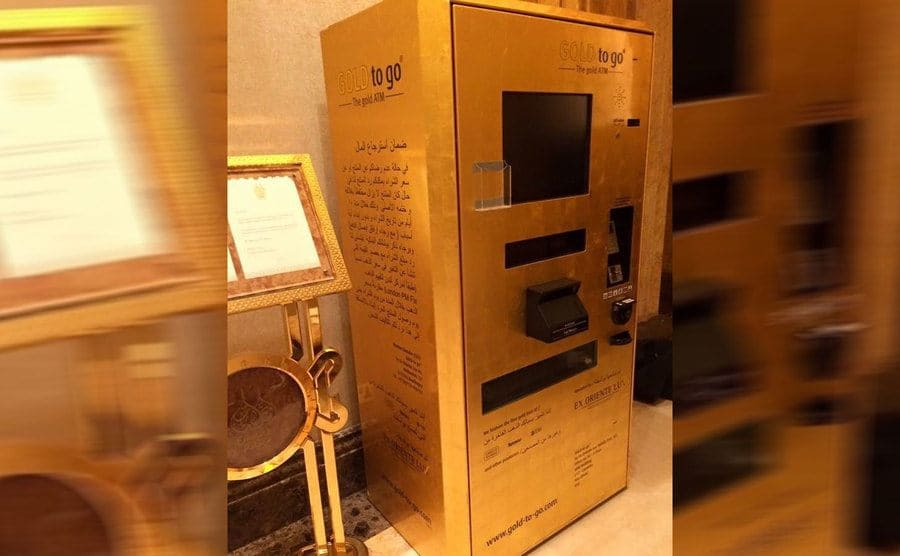 An ATM which dispences gold instead of money