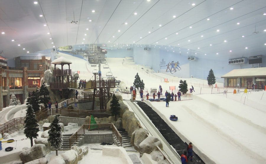 The indoor ski resort in the Mall of Emirates