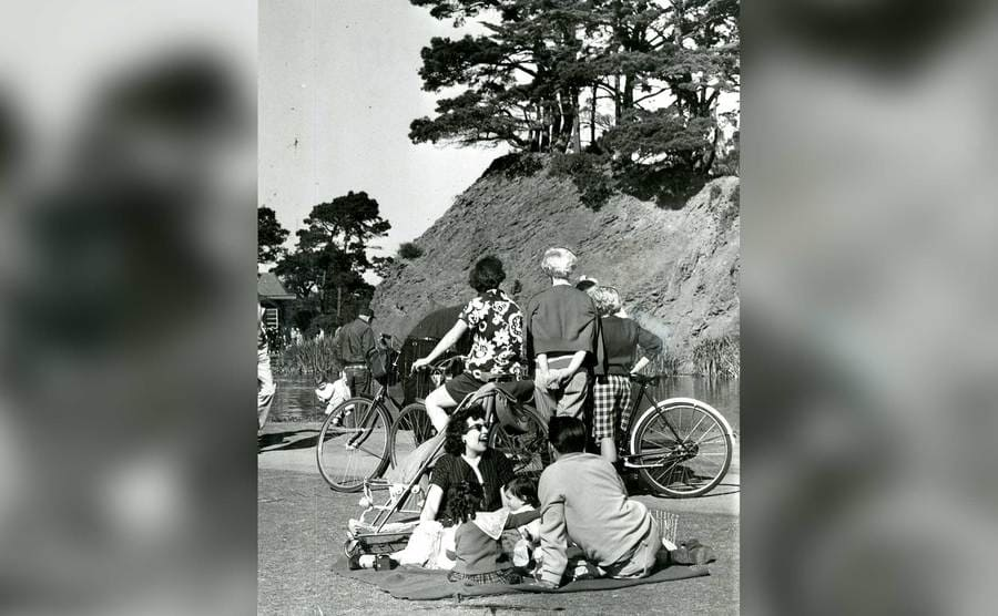 An outing in Golden Gate Park in San Francisco, March 3, 1958.